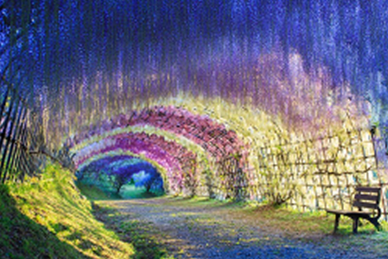 Mẫu tranh dán tường 3D phong cảnh đẹp nhất (Mã: TH-1194)