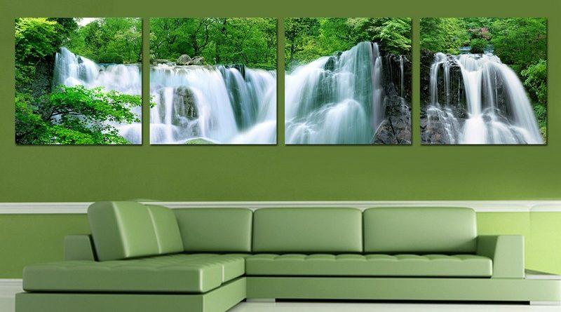 In tranh gạch kính 3D cho phòng khách mẫu mã đẹp, giá rẻ
