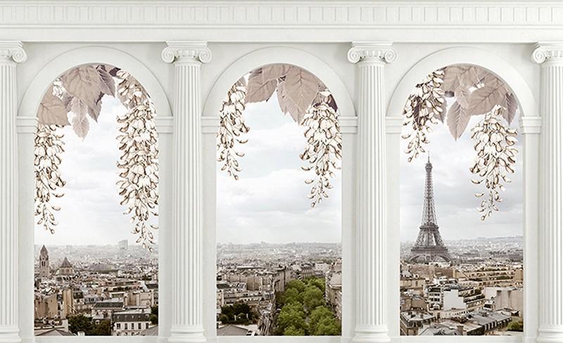 Tranh 3D cửa sổ đẹp - Mã: TH-2204