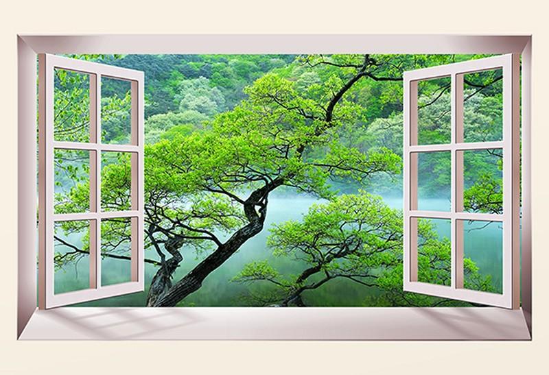 Tranh 3D cửa sổ đẹp - Mã: TH-2027