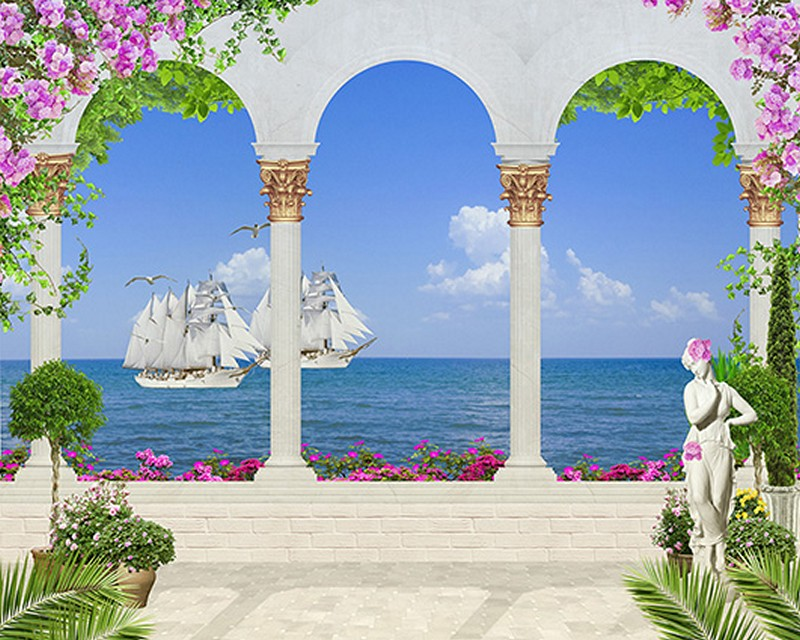 Tranh 3D cửa sổ đẹp - Mã: TH-1381
