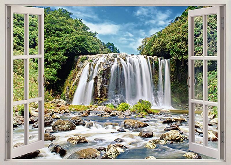 Tranh 3D cửa sổ đẹp - Mã: TH-1679