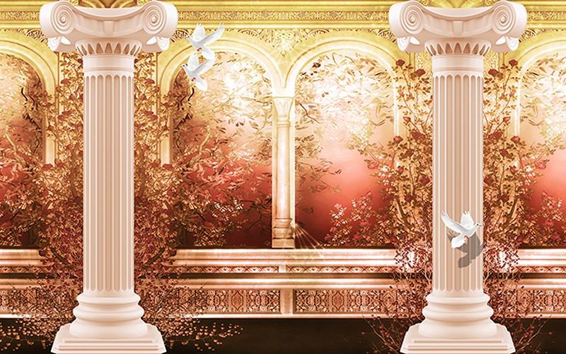 Tranh 3D cửa sổ đẹp - Mã: TH-2203
