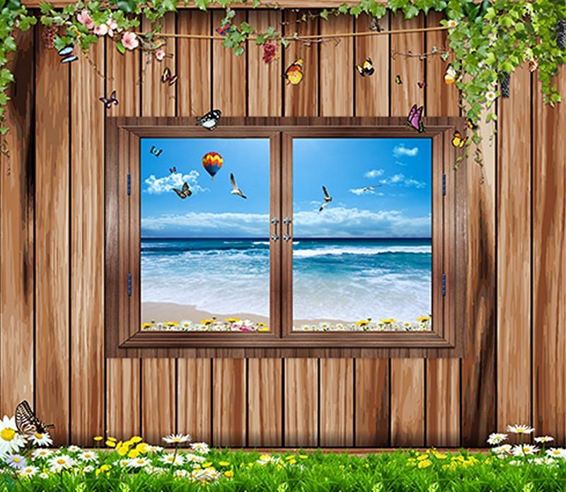 Tranh 3D cửa sổ đẹp - Mã: 3D-0055-copy