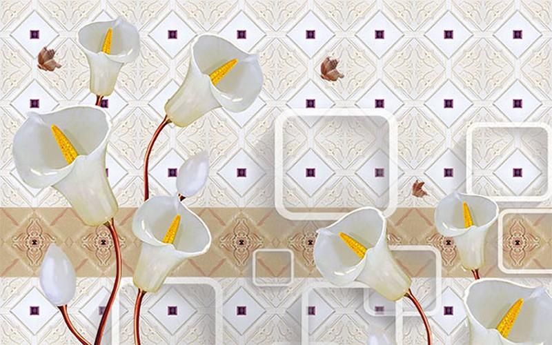 Tranh dán tường 3D phòng khách nhỏ đẹp nhất - Mã: 3D-022-copy