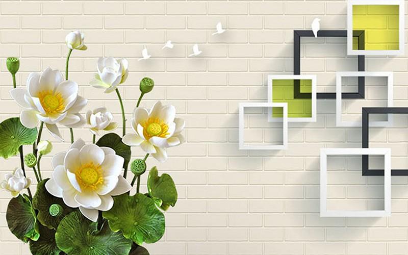 Tranh dán tường 3D phòng khách nhỏ đẹp nhất - Mã: 3D-012-copy