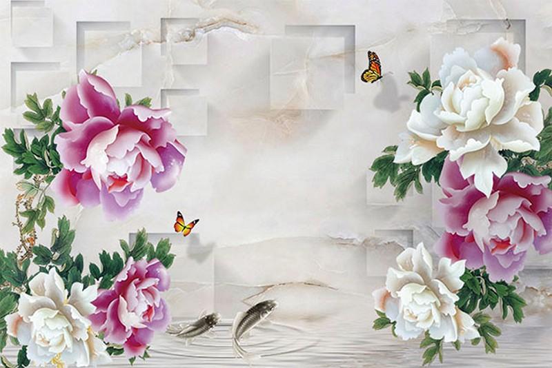 Tranh dán tường 3D giả ngọc đẹp nhất - Mã: BH-047-copy