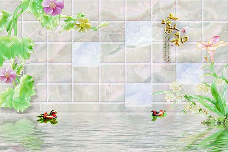 Tranh dán tường 3D giả ngọc đẹp nhất - Mã: BH-027-copy