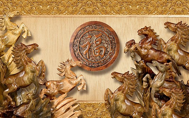 Mẫu tranh dán tường 3d khổ lớn phòng khách cổ điển đẹp - Mã: TH-21-copy