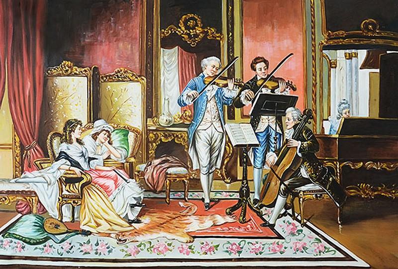 Mẫu tranh dán tường 3d khổ lớn phòng khách cổ điển đẹp - Mã: FQ258-copy