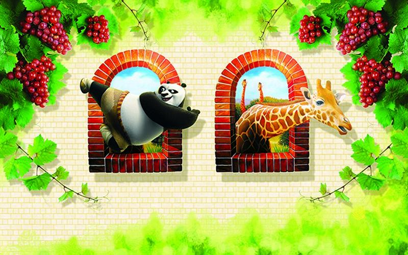 Tranh dán tường hình con vật đẹp dễ thương - Mã: KT-020-copy