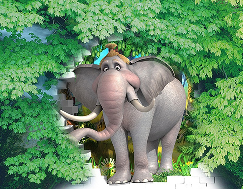Tranh dán tường hình con vật đẹp dễ thương - Mã: TH-2009