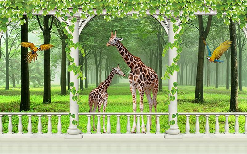 Tranh dán tường hình con vật đẹp dễ thương - Mã: TH-0010071-copy