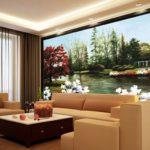 Nhận in tranh dán tường 3D sơn dầu khổ lớn tại Hà Nội