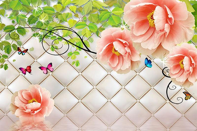 Mẫu tranh dán tường 3D phòng khách đẹp - Mã: 3D-039-copy