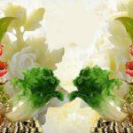 In tranh dán tường 3D bình hoa giả ngọc siêu chất lượng
