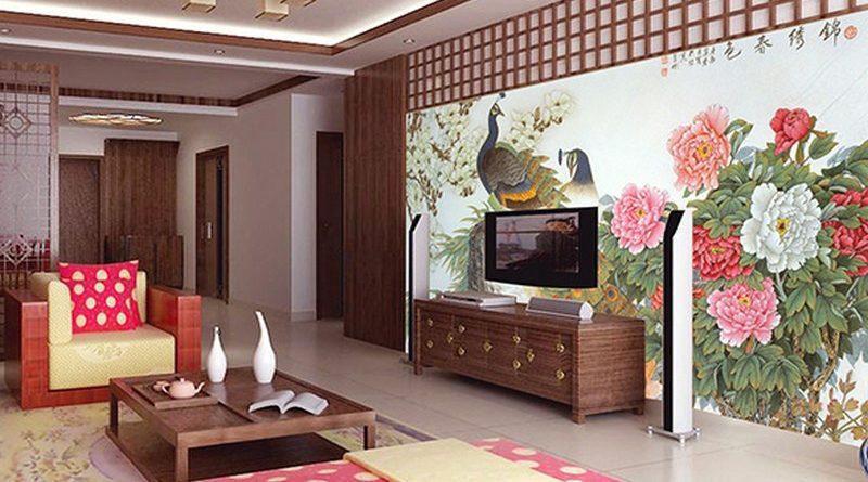 Địa chỉ in tranh dán tường 3D hình rồng, công, phượng giá rẻ nhất Hà Nội