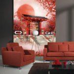 Cách chọn tranh dán tường 3D khổ lớn kết hợp với sofa chuẩn đẹp