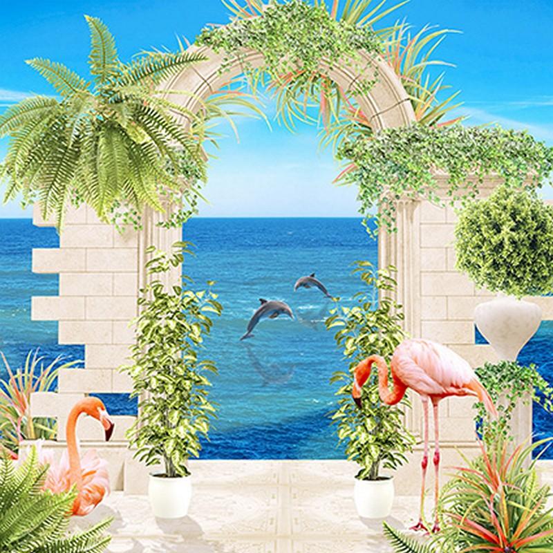 Tranh dán tường cửa sổ 3D Hà Nội đẹp - Mã: TH-1323