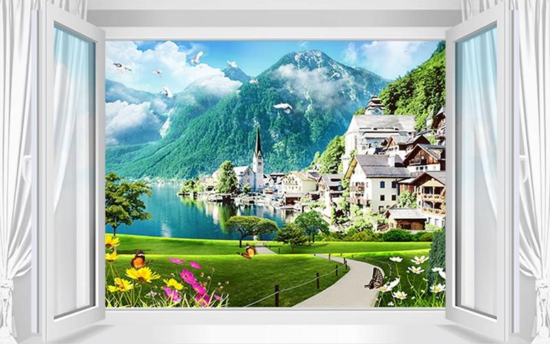 Mẫu tranh cửa sổ giả đẹp - Mã: TH-0010182-copy