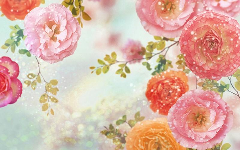 Mẫu tranh dán tường 3D ở Hà Nội bán chạy nhất - Tranh 3D dán tường hình hoa