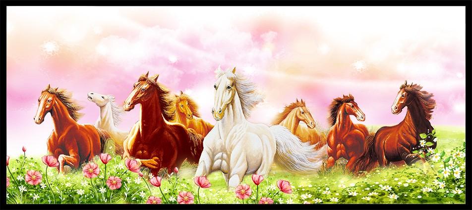 Tranh ngựa - tranh 8 ngựa mang lại tài lộc cho gia chủ