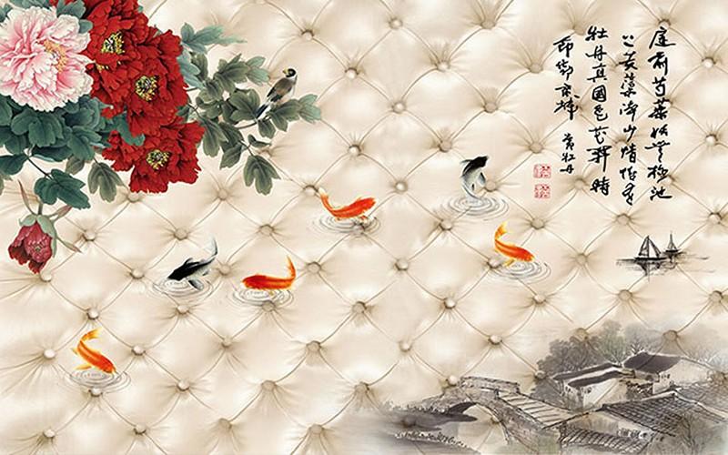 Ý nghĩa tranh hoa mẫu đơn - Tranh hoa mẫu đơn hợp tuổi nào theo phong thủy