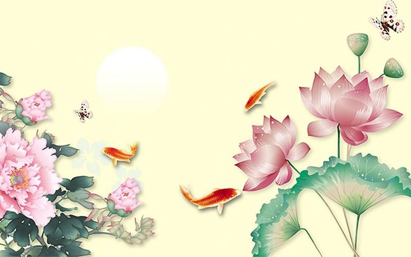 Ý nghĩa tranh hoa mẫu đơn trong phong thủy| Giá tranh hoa mẫu đơn 3D