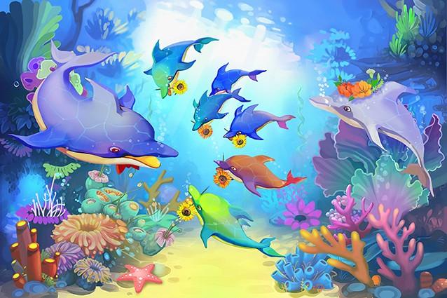 Nên chọn tranh dán tường 3D cho bé nhiều màu sắc và hình ảnh