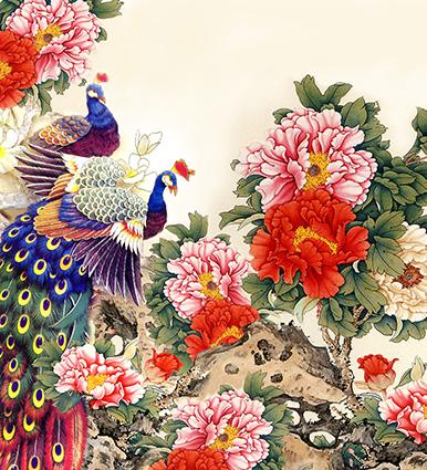 16 mẫu tranh tranh dán tường phòng cưới đẹp lung linh - 02
