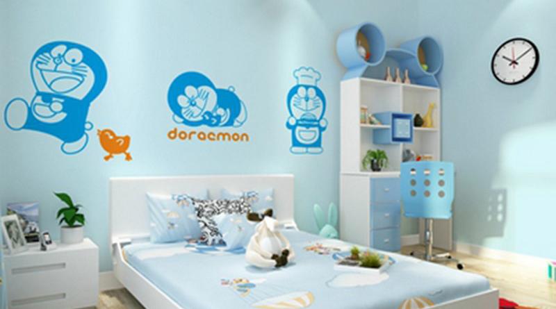 6 mẫu tranh dán tường Doremon ngỗ nghĩnh cho bé yêu