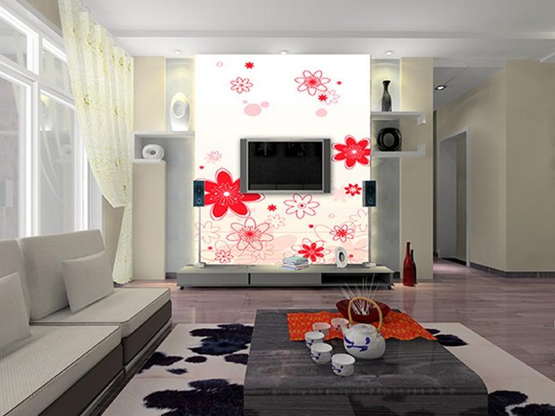 Những mẫu tranh dán tường 3d phòng khách đẹp mê ly, khó rời mắt - 02