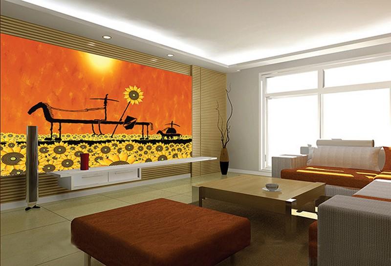 Những mẫu tranh dán tường 3d phòng khách đẹp mê ly, khó rời mắt - 03