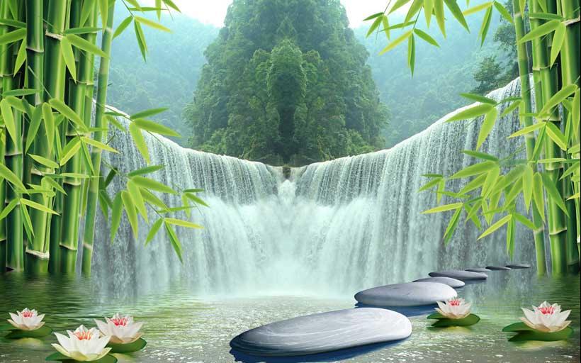Tranh phong cảnh 3d đẹp lung linh: mẫu in tranh TH_05383