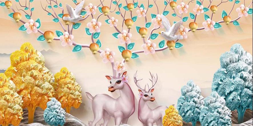 Mẫu in tranh dán tường 3d đẹp tại xưởng in Thiên Hà: mã TH_20129