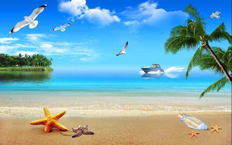 Tranh cảng biển đẹp, yên bình - 03
