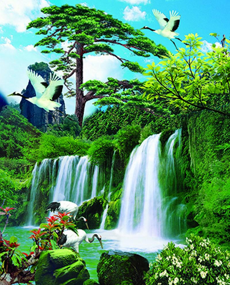 Tranh phong cảnh thiên nhiên sơn thủy hữu tình - 04