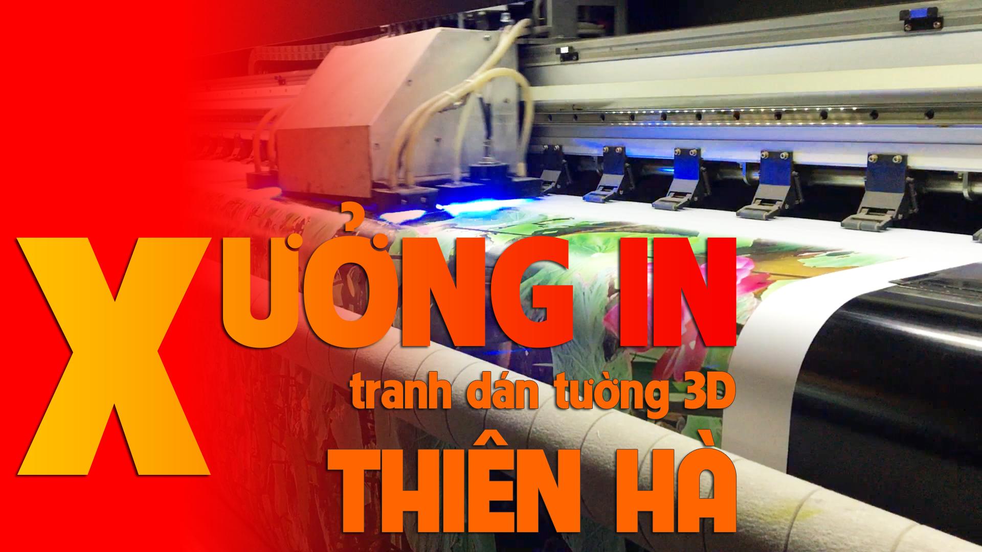 Xưởng in tranh dán tường 3D khổ lớn Hà Nội và TPHCM