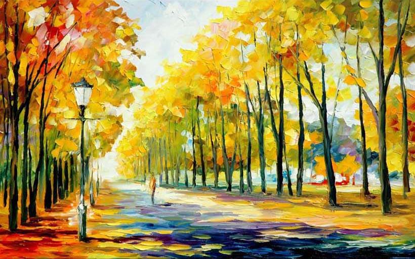 Tranh phong cảnh sơn dầu in khổ lớn, Mẫu in: TH_03450