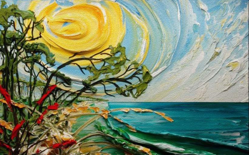 Tranh phong cảnh sơn đầu đẹp như tranh vẽ, Mẫu in: TH_11081