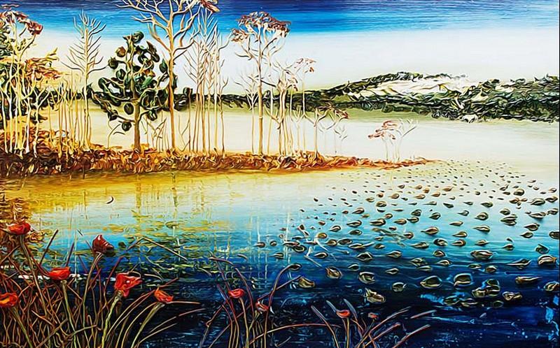 Tranh phong cảnh 3d đẹp dung dị qua nét vẽ sơn dầu - 01
