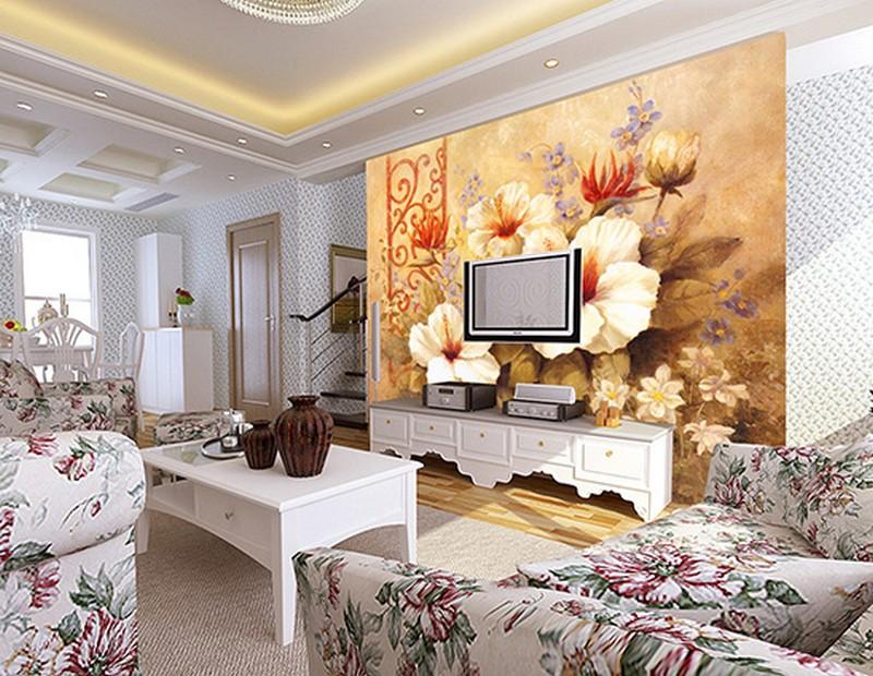 Tranh dán tường 3d làm tăng giá trị phòng khách gấp đôi