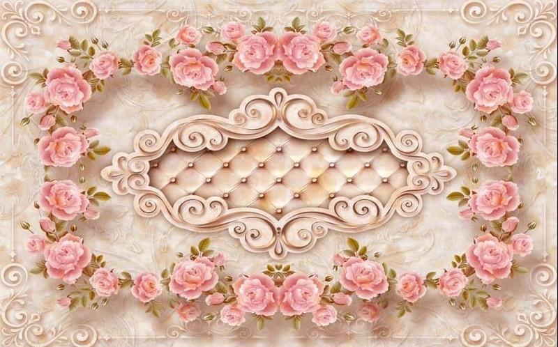 Tranh dán nền khung hoa đặc sắc