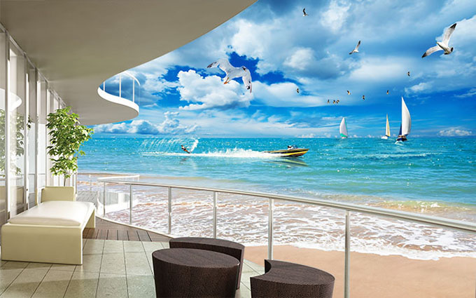 In tranh cảnh biển theo yêu cầu giá rẻ nhất