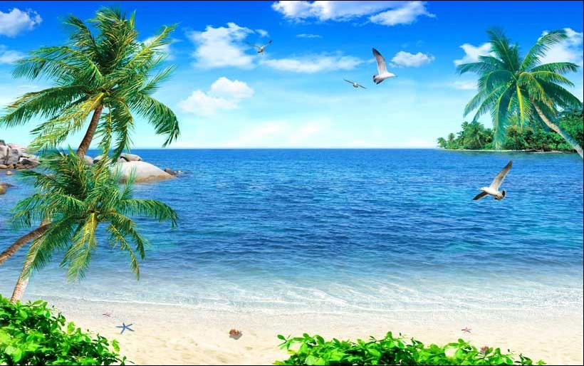 Tranh cảnh biển 3D cực đẹp: mẫu in TH_05390