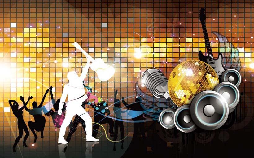 Tranh dán tường 3D phòng hát karaoke khá đa dạng về mẫu mã