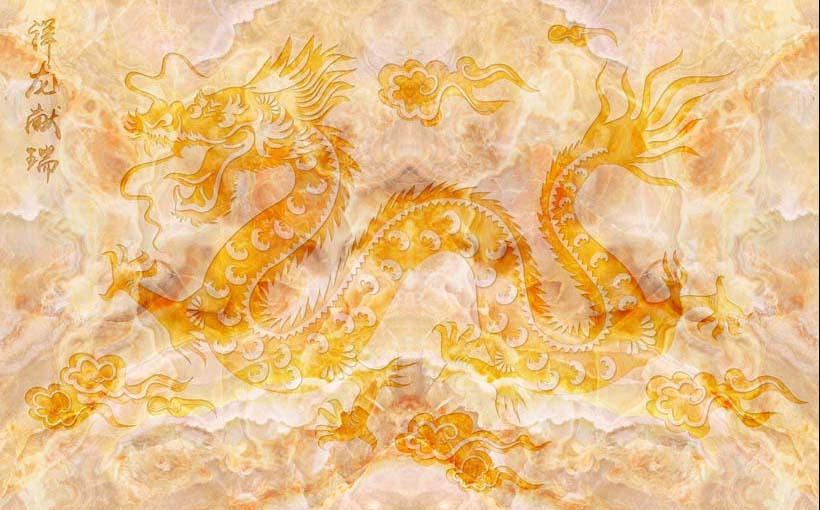 Với gia chủ tuổi thân, tranh dán tường, dán trần được chọn nên in hình ảnh rồng bay
