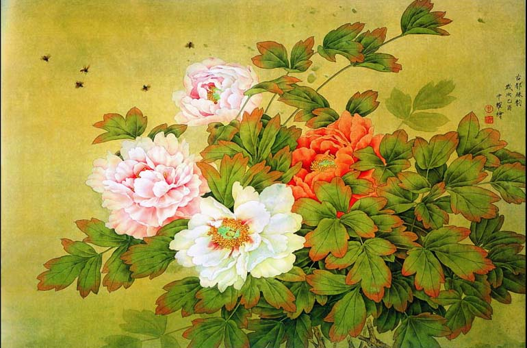 Tranh sơn dầu 3D của Thiên Hà đẹp không kém tranh vẽ (mẫu in TH_08608)