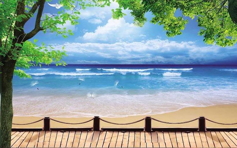 Tranh cảnh biển 3D cực đẹp: mẫu in TH_10219