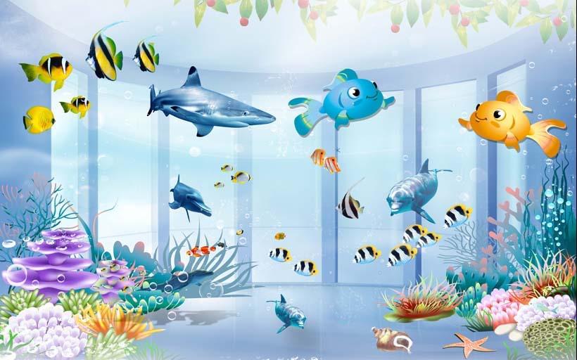 Nếu chọn tranh cho phòng học hoặc phòng chơi của bé nên chọn những mẫu tranh dán có nhiều màu sắc rực rỡ